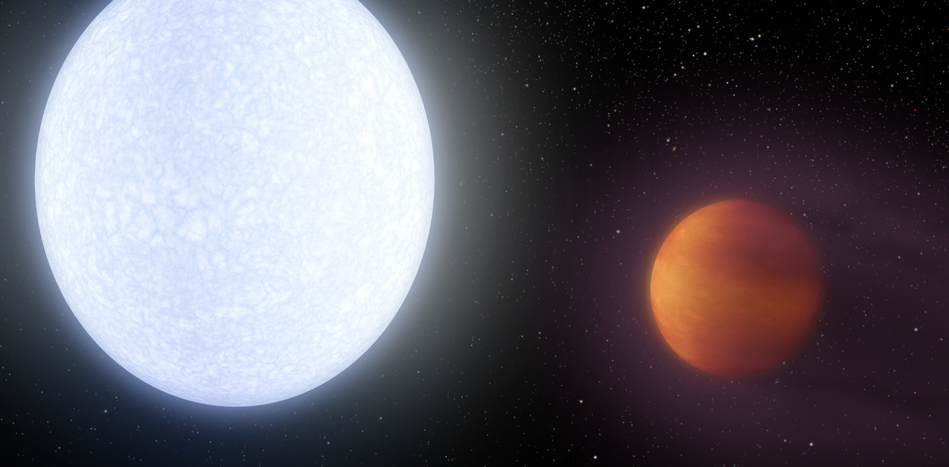 KELT-9B is the hottest known planet. - Image Credit: NASA/JPL-Caltech