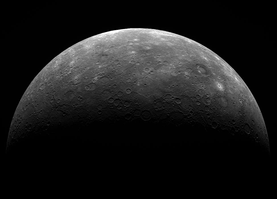 MESSENGER image of Mercury from its third flyby - Image Credit: NASA/Johns Hopkins University Applied Physics Laboratory/Carnegie Institution of Washington