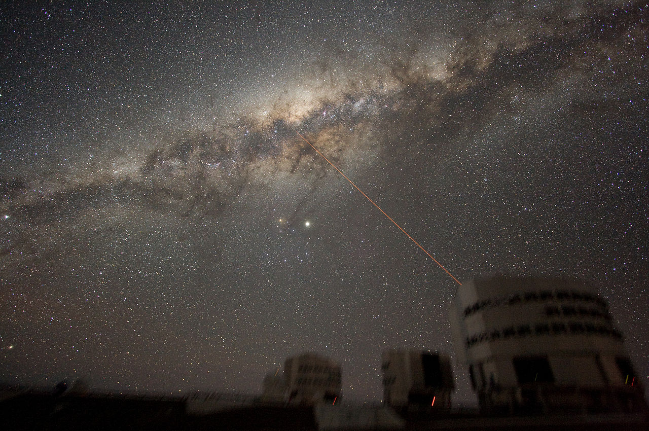 The band of light (the Milky Way) that is visible in the night sky, showing the stellar disk of our galaxy. - Image Credit:  ESO/Y. Beletsky/WikimediaCommons