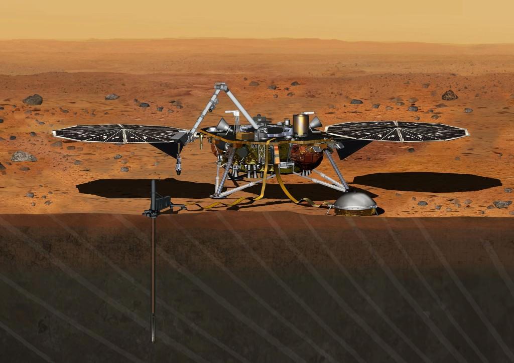 Artist's conception of the NASA InSight Mars lander. - Image Credit: NASA/JPL-Caltech
