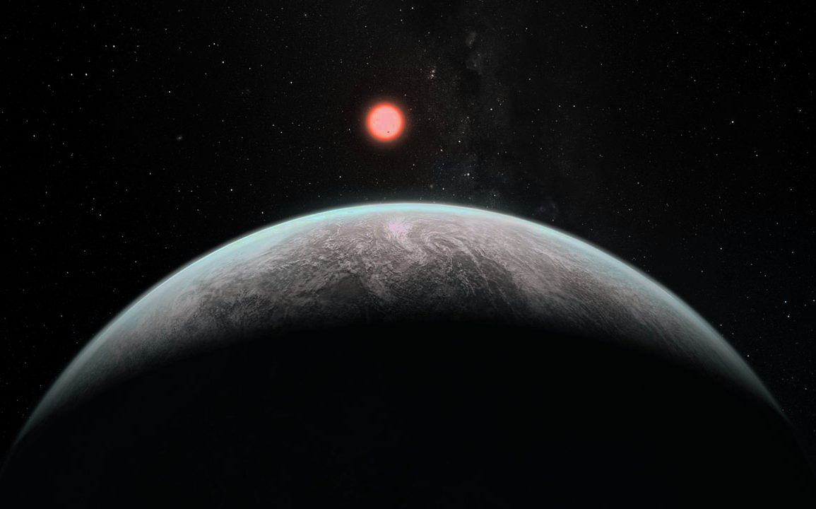 Artist's impression of how an Earth-like planet might look from space. - Image Credit: ESO.