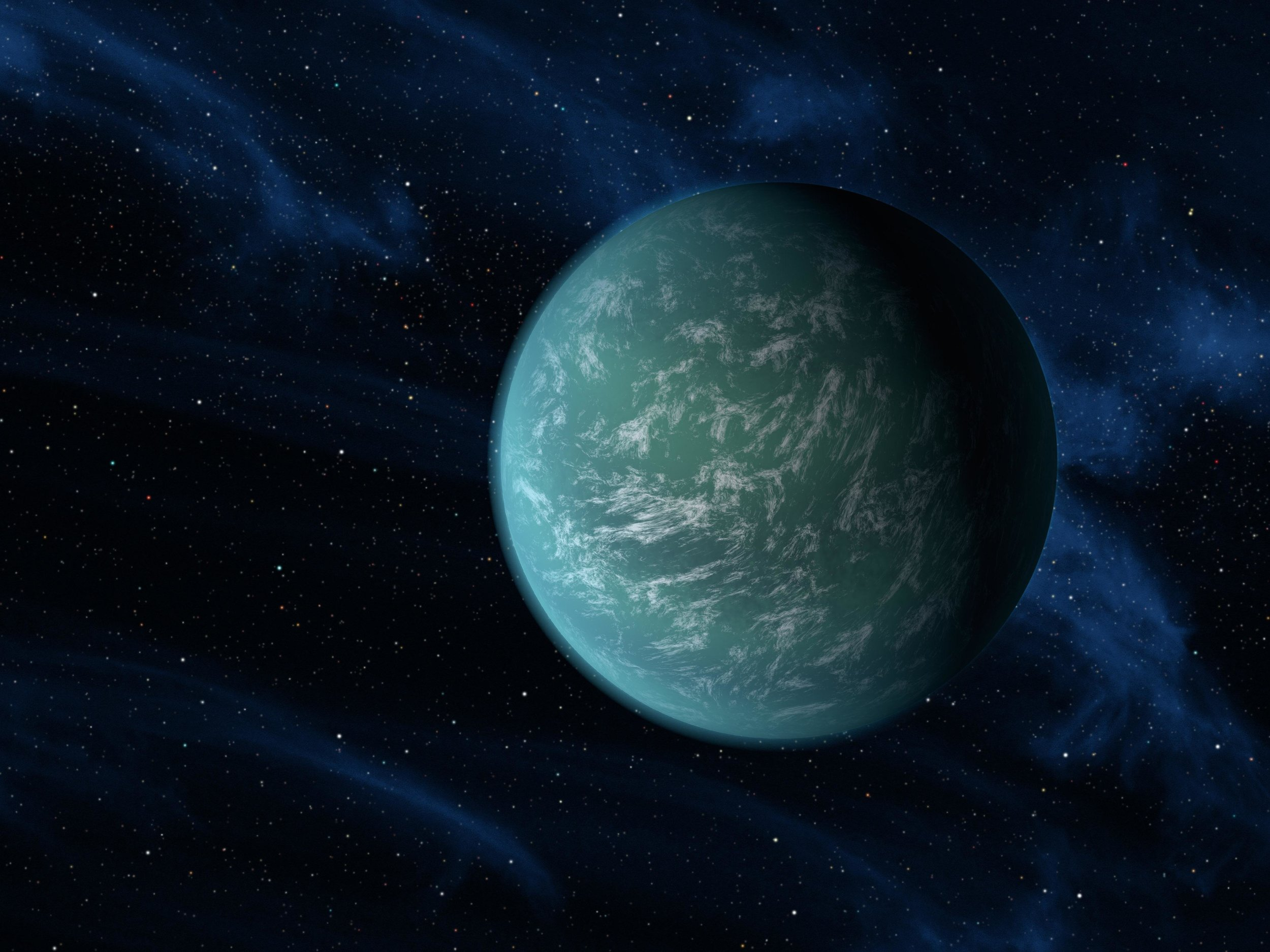 Kepler-22b, an exoplanet with an Earth-like radius that was discovery within the habitable zone of its host star. - Image Credit: NASA