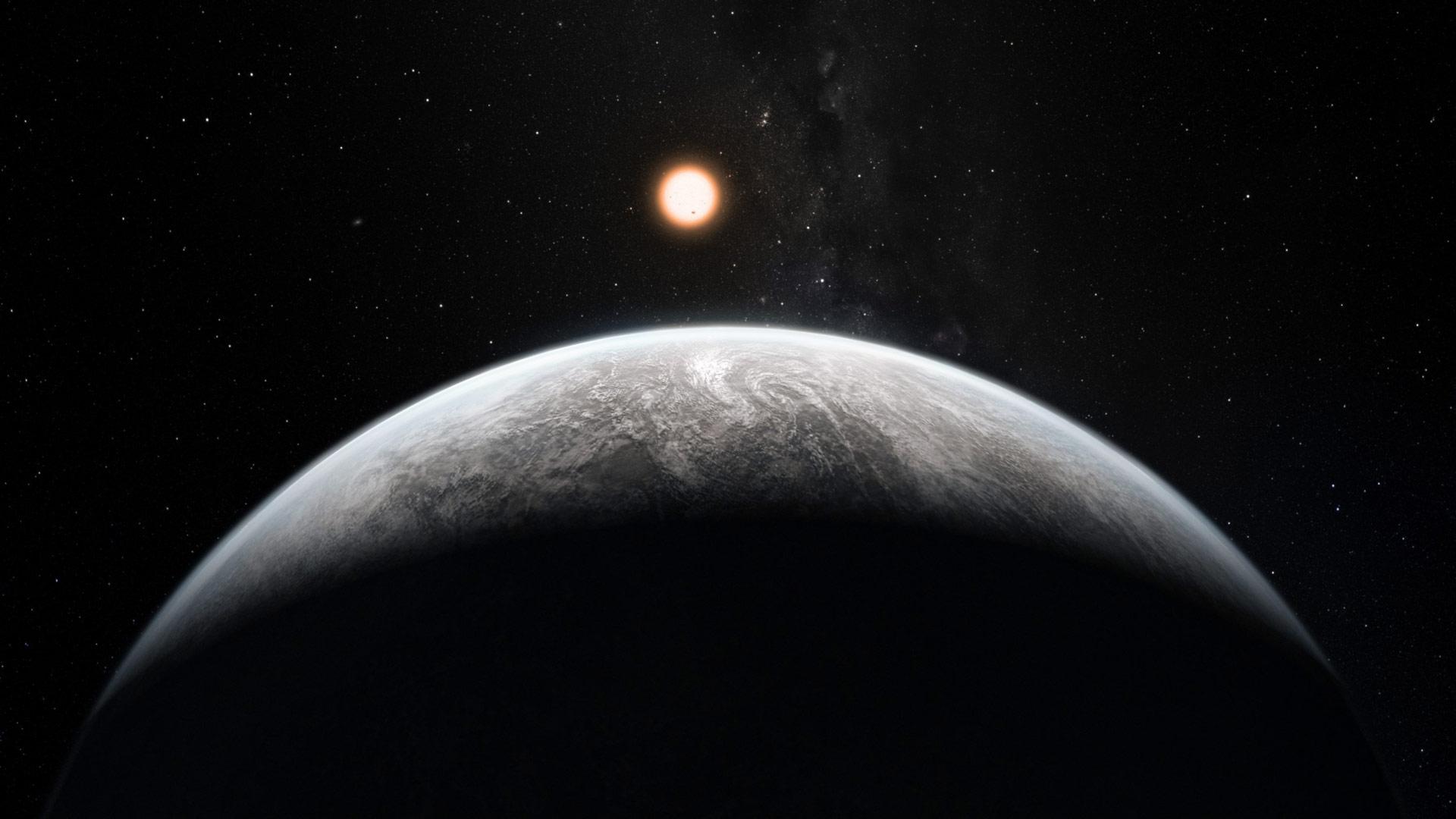 Artist's impression of a Super-Earth planet orbiting a Sun-like star. - Image Credit: ESO/M. Kornmesser