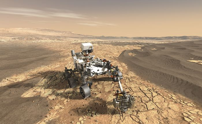 Artist's impression of the Mars 2020 Rover. - Image Credit: NASA