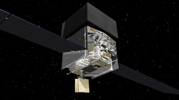 Many hands make light (and gravity) work. NASA's Fermi satellite was instrumental in the discovery. - Image Credit: NASA