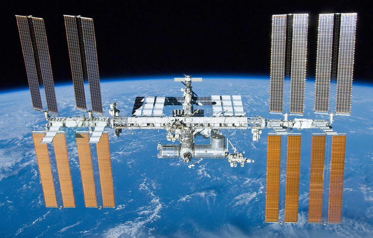 The International Space Station (ISS), seen here with Earth as a backdrop. - Image Credit: NASA