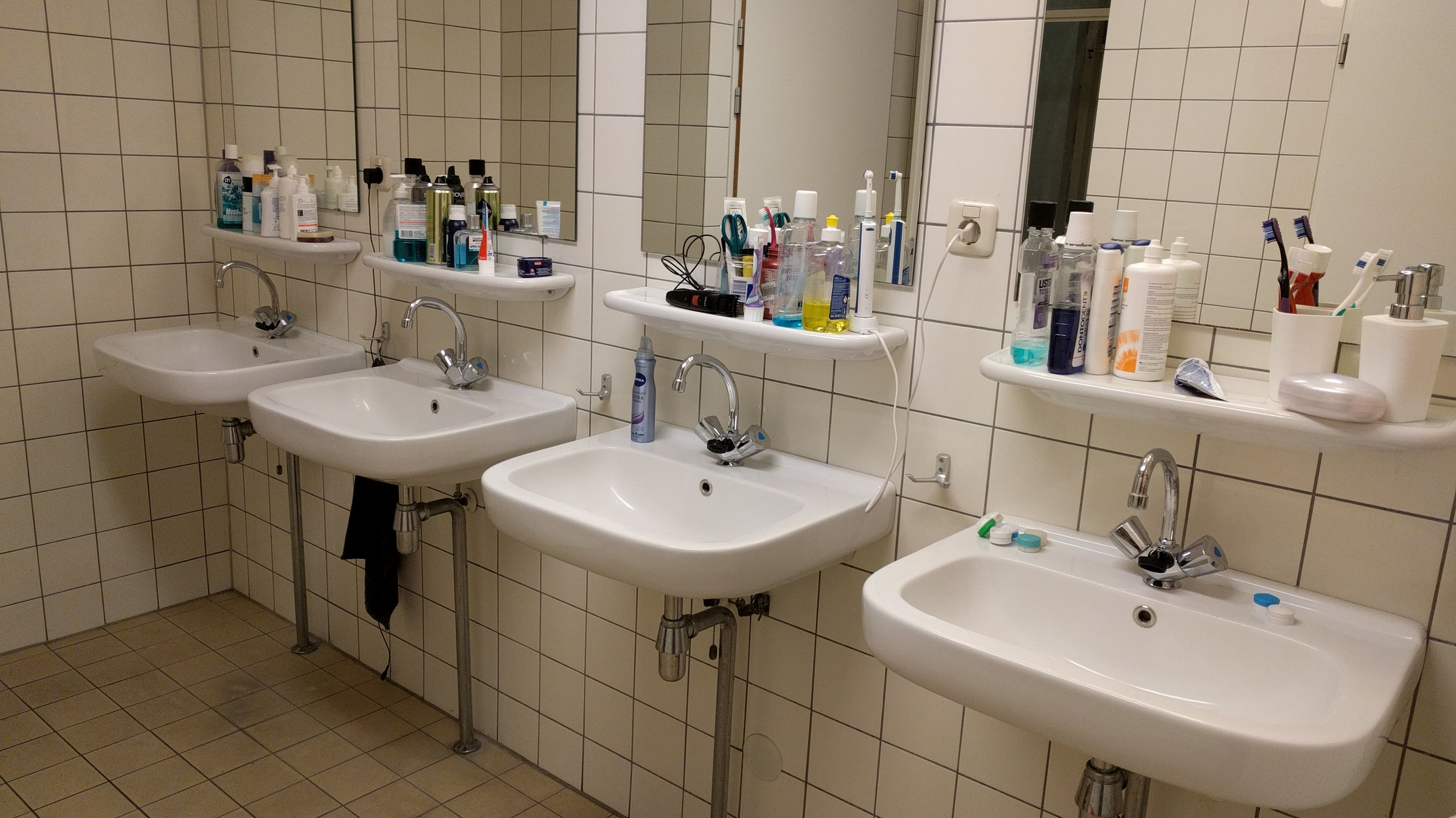 Make sure the bathroom is clean, if it's not that poses a problem with trying to keep your hands clean - Image Credit:  Universal-Sci   CC BY 4.0