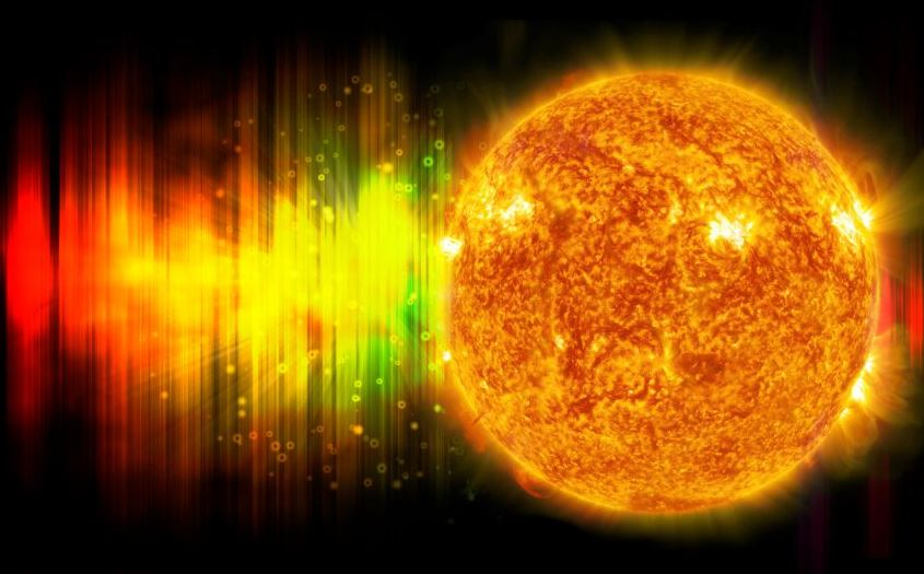 The Sun emits radiation almost all across the electromagnetic spectrum - Image Credit: NASA