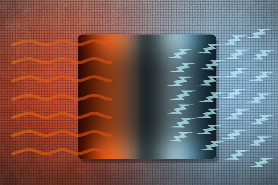 MIT researchers, looking for ways to turn heat into electricity, find efficient possibilities in certain topological materials. -Image Credit: Christine Daniloff/MIT