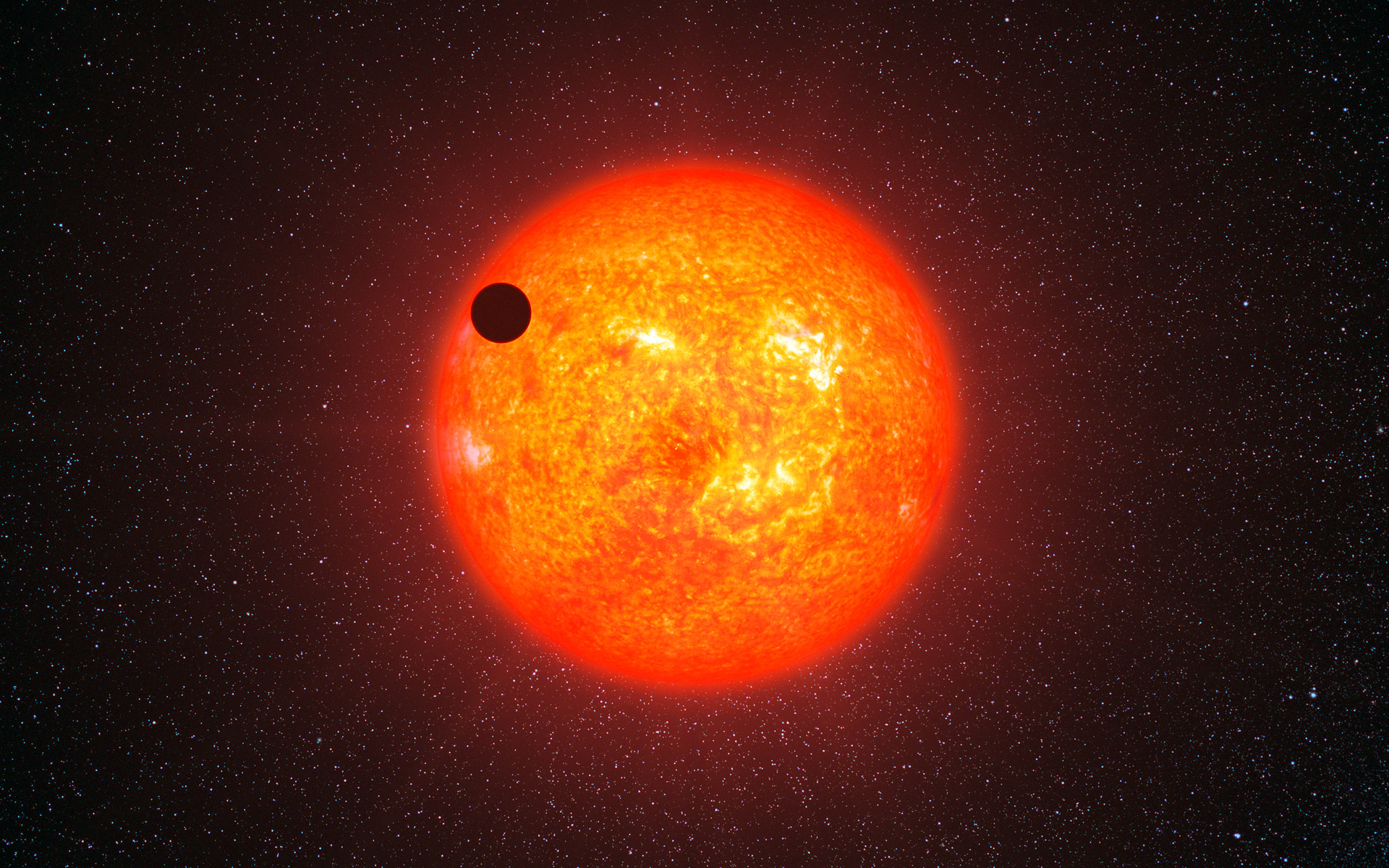 An artist's impression of a super-earth extra-solar planet transiting its home star - Image Credit: ESO/L. Calçada via Wikimedia Commons