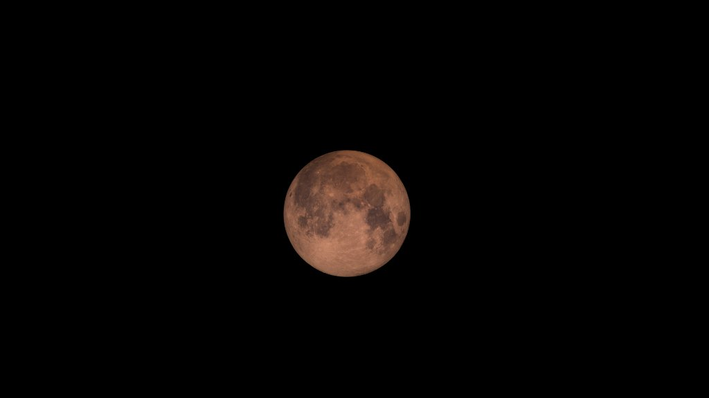 A super blood moon tinted red by scattered light.- Image Credit: GSFC , CC BY