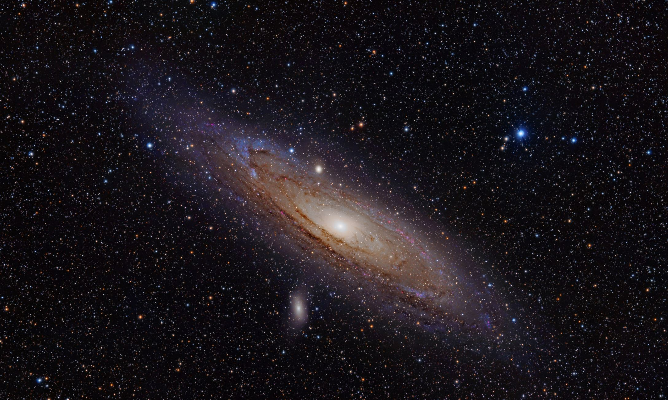 According to a new observations and numerical simulations, scientists have determined that Andromeda formed from a recent collision. - Image Credit:  Adam Evans via Wikimedia Commons