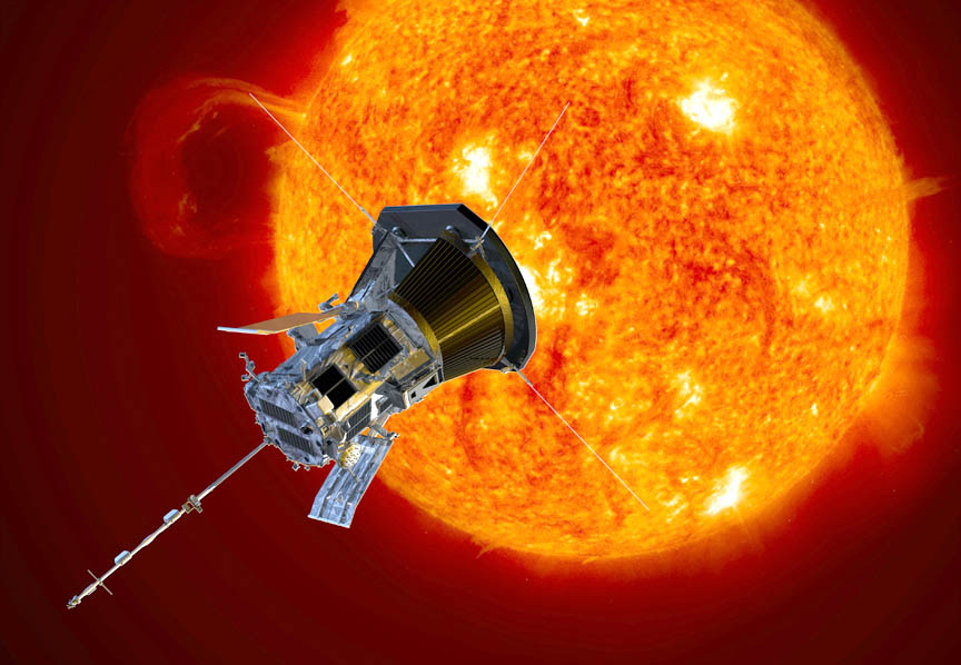 NASA's Parker Solar Probe will launch this summer and study both the solar wind and unanswered questions about the Sun's sizzling corona. - Image Credit: NASA