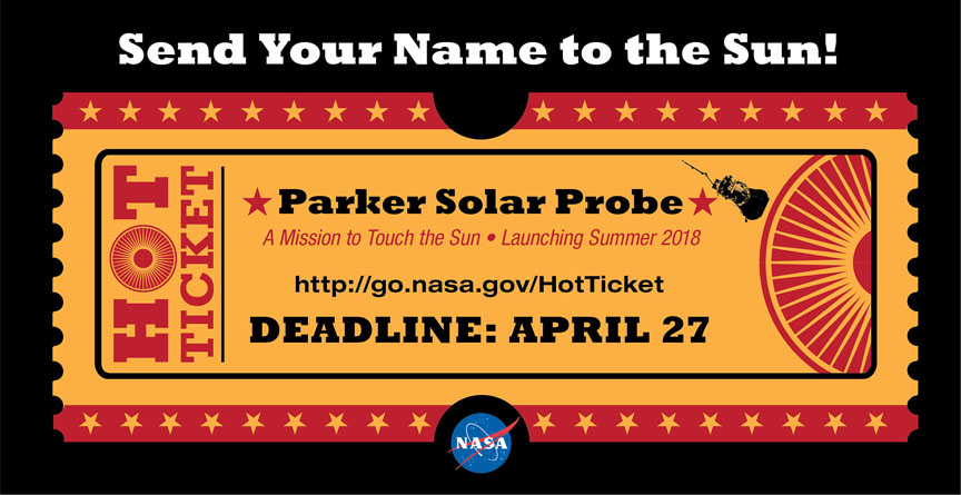 Step right up! Head over before April 27 to put a little (intense) sunshine in your life. Click the image to go there. - Image Credit: NASA