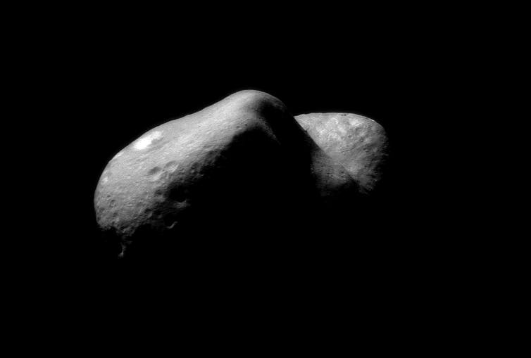433 Eros - an asteroid in a near-Earth orbit. - Image Credit: NASA/NEAR Project (JHU/APL).