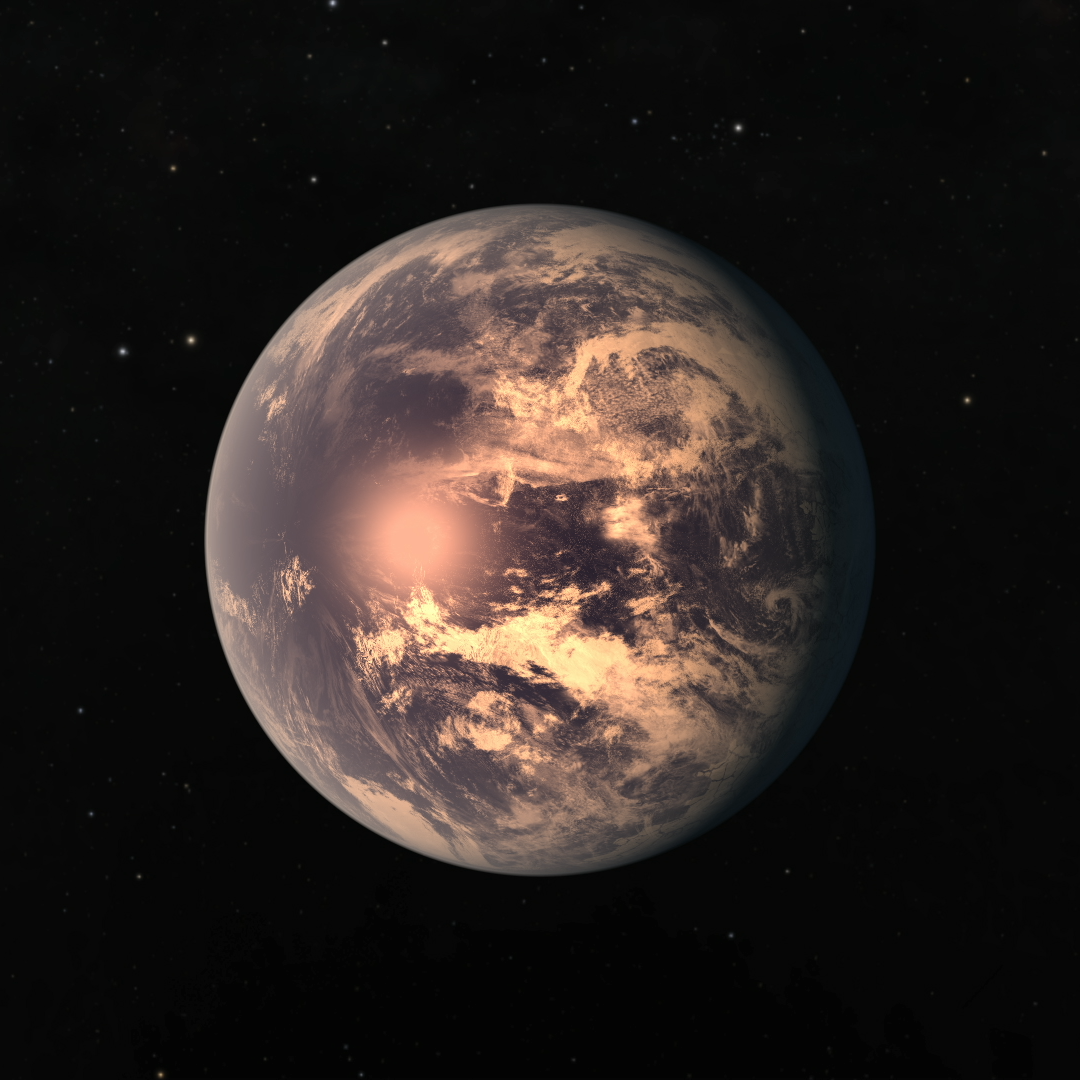 Artist's impression of TRAPPIST-1e, which has a large iron core, according to a recent study. - Image Credit: NASA/JPL-Caltech