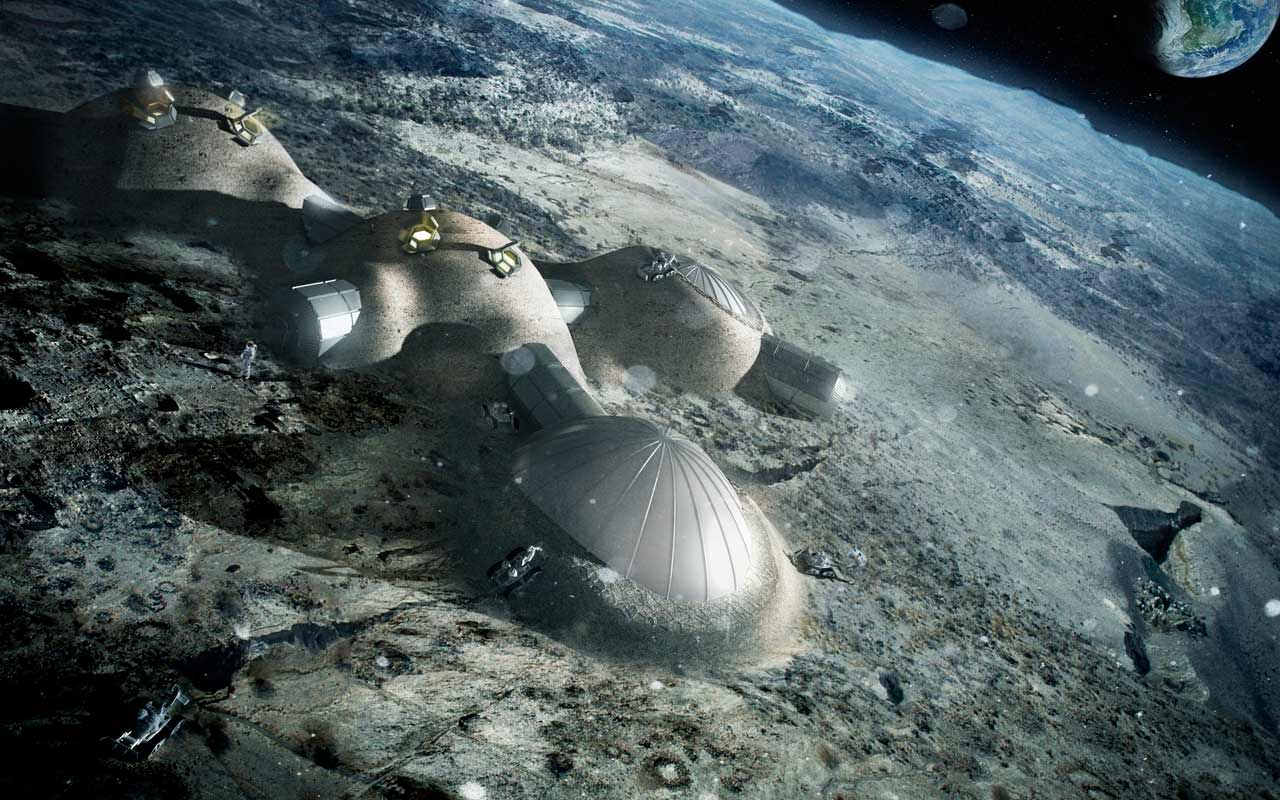 Long-duration missions to the Moon, which could involve permanent bases, will have to contend with the hazard of breathing lunar dust. - Image Credit: ESA/Foster + Partners
