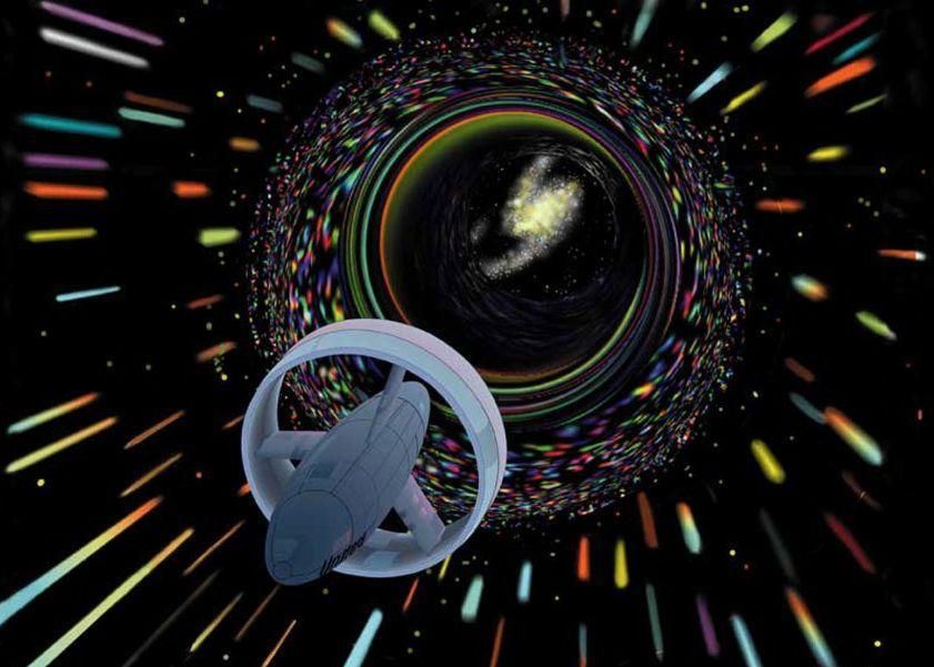 Artist's concept of a spacecraft using an Alcubierre Warp Drive. - Image Credit: NASA