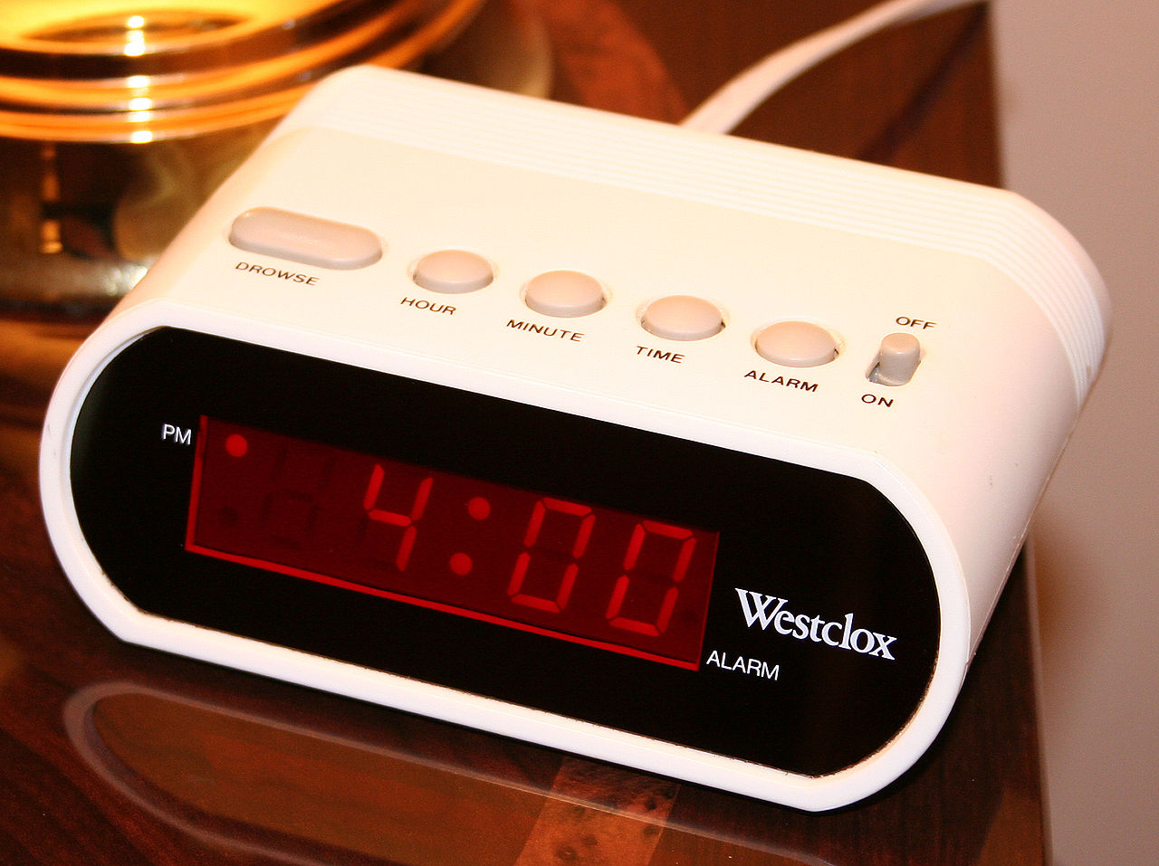 Needing an alarm clock to wake up suggests you may not be meeting your sleep need - Image Credit:  Tysto via Wikimedia Commons