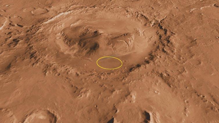 Gale crater on Mars.- Image Credit: NASA/JPL-Caltech/ASU/UA