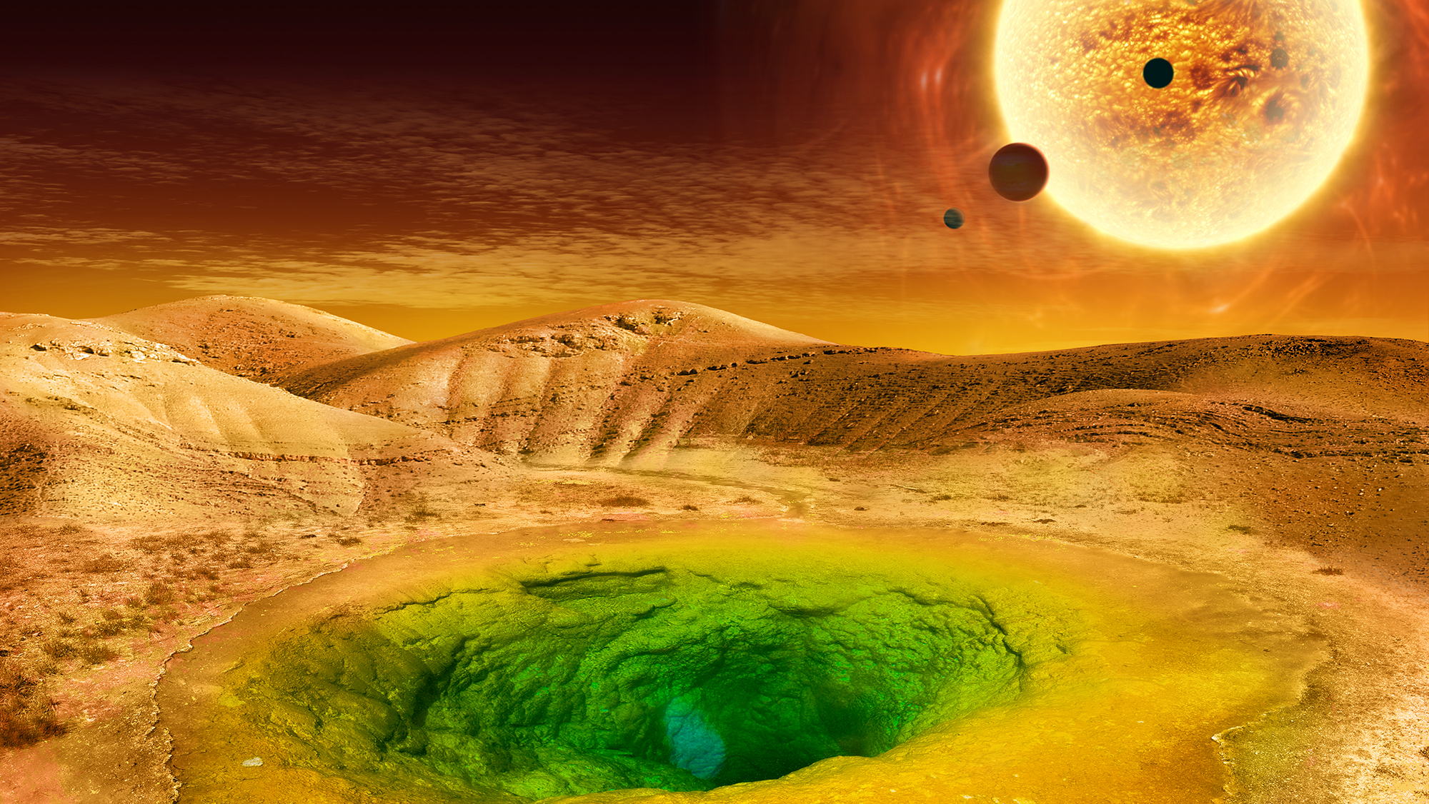 Artist's conception of what life could look like on the surface of a distant planet. - Image Credits: NASA