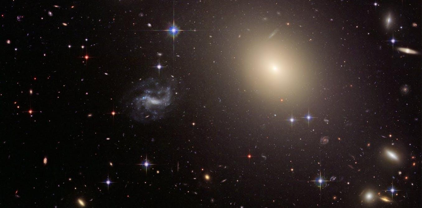 When galaxies align. - Image Credit: NASA