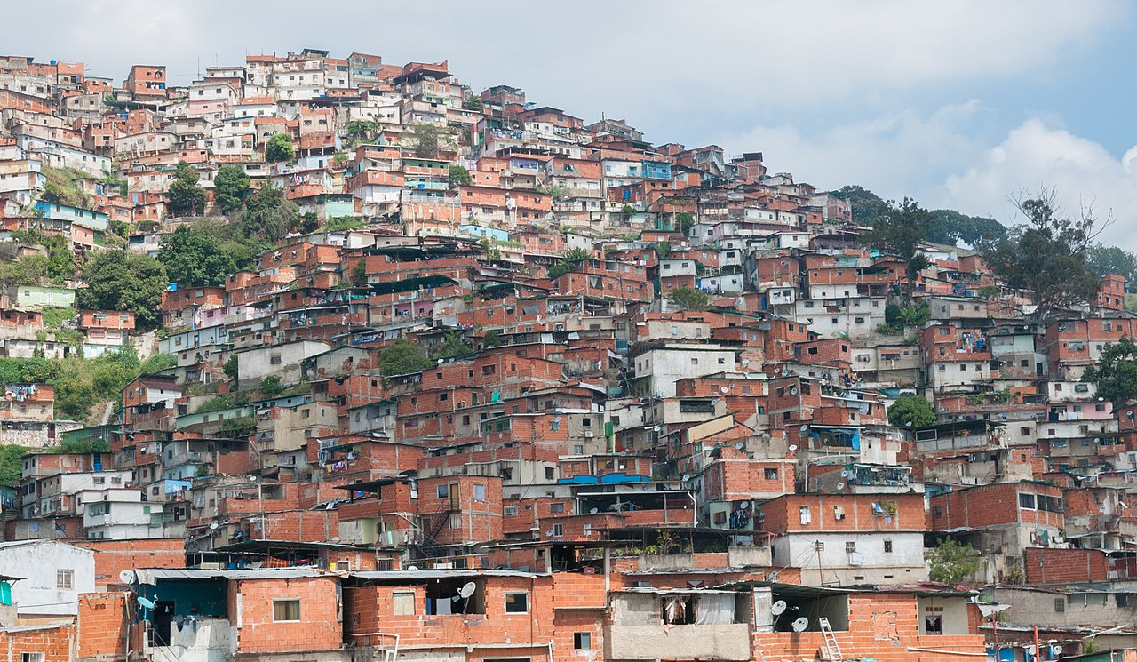Slums in Caracas, Venezuela. - Image Credit:  Wikimedia Commons