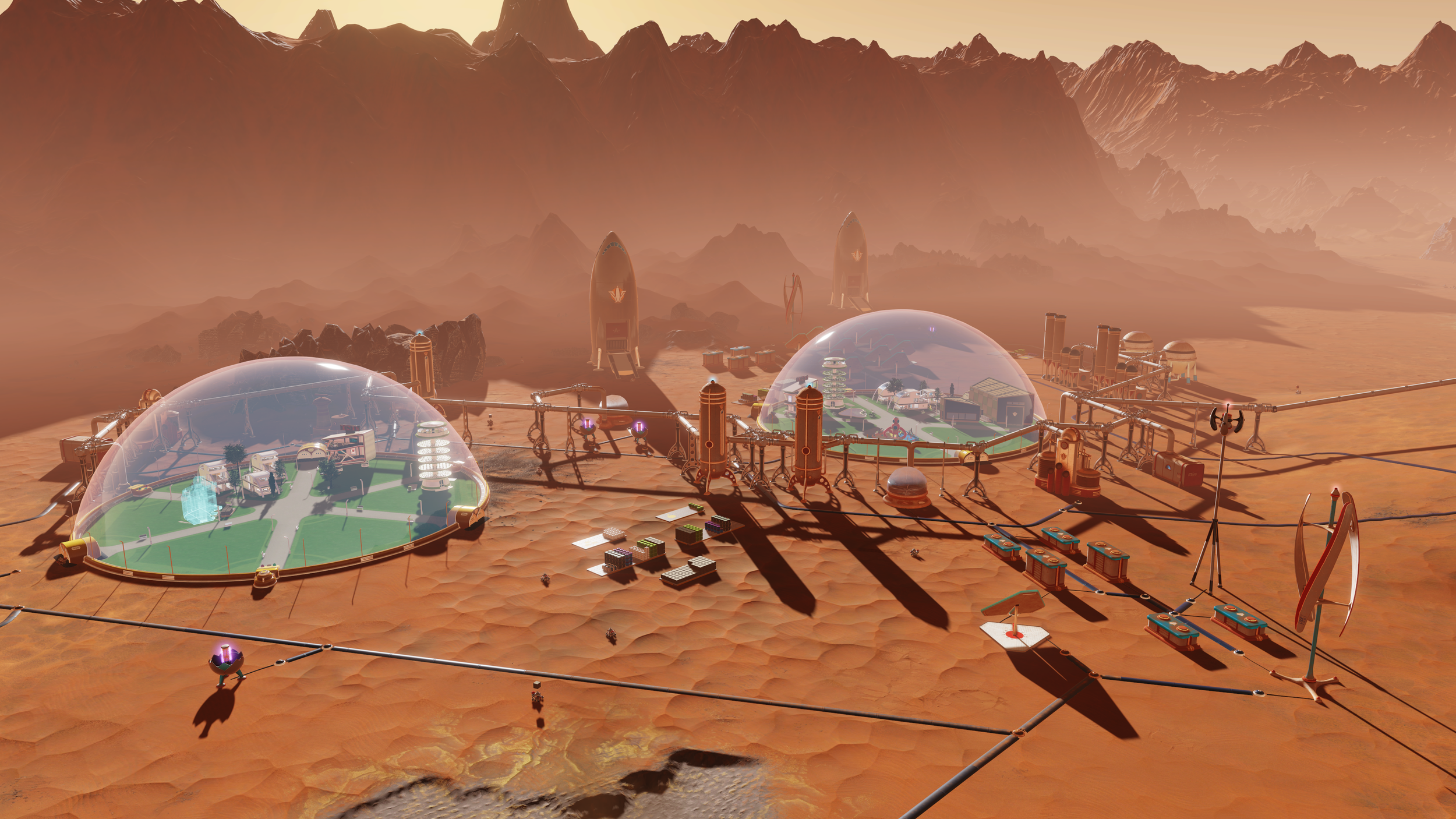 An impression of Mars colonization - Image Credit:  Sci-Gaming/Surviving Mars