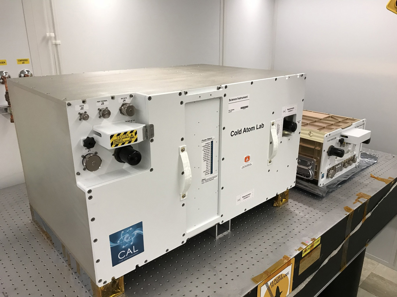 The Cold Atom Laboratory (CAL), which consists of two standardized containers that will be installed on the International Space Station. - Image Credit: NASA/JPL-Caltech/Tyler Winn