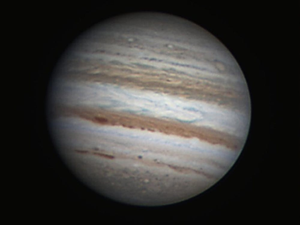 The bands of Jupiter captured by an Earth-based astronomer. - Image Credit: NASA/Freddy Willems