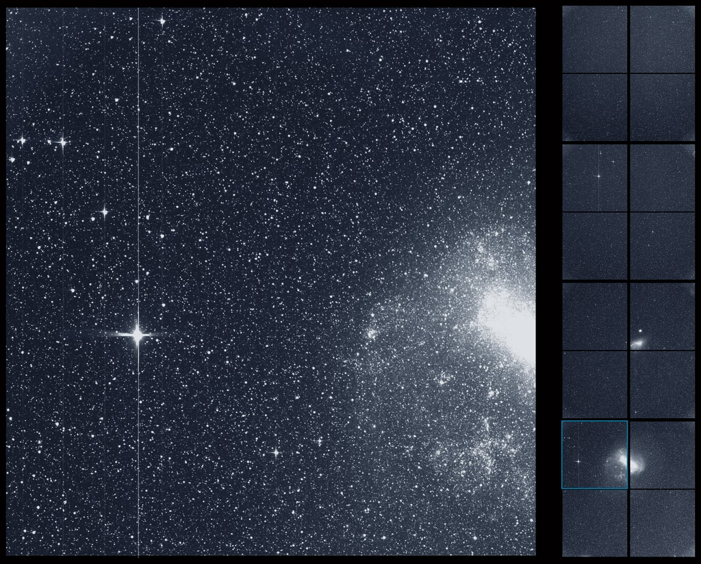 """Download high-resolution versions of this and other TESS """"first light"""" images from the Scientific Visualization Studio at NASA's Goddard Space Flight Center. - Image Credits: NASA/MIT/TESS -  More TESS """"first light"""" multimedia"""