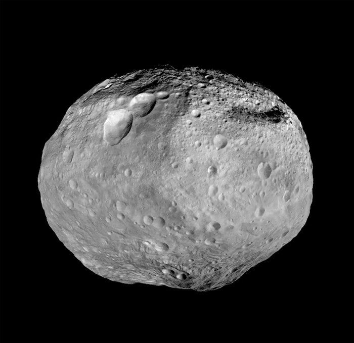 The asteroid Vesta, courtesy of NASA's Dawn spacecraft. Meteorites ejected from Vesta may have helped form Earth's water. - Image Credit: NASA/JPL-Caltech/UCAL/MPS/DLR/IDA