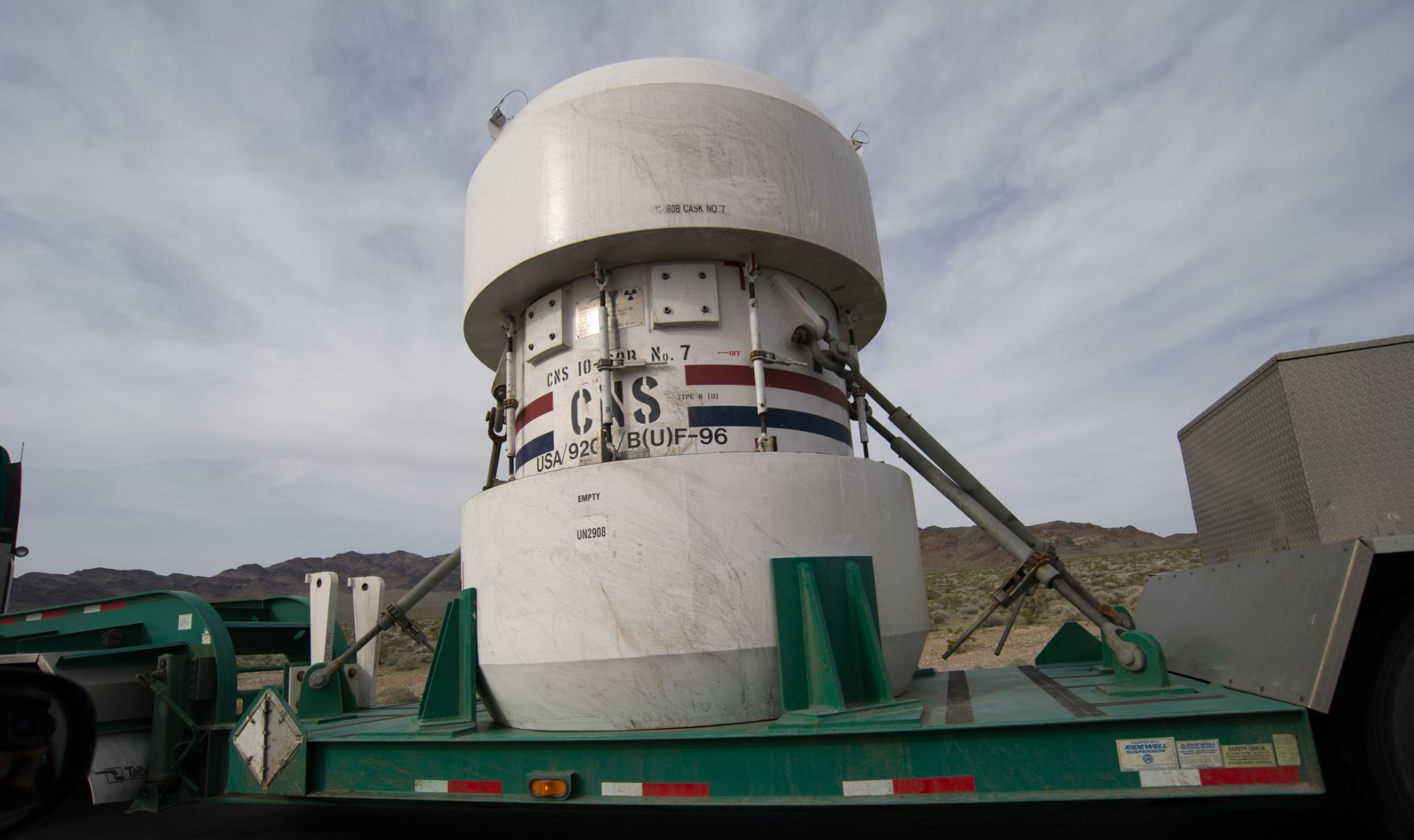Nuclear Waste Container - Image Credit:  Bill Ebbesen via Wikimedia Commons
