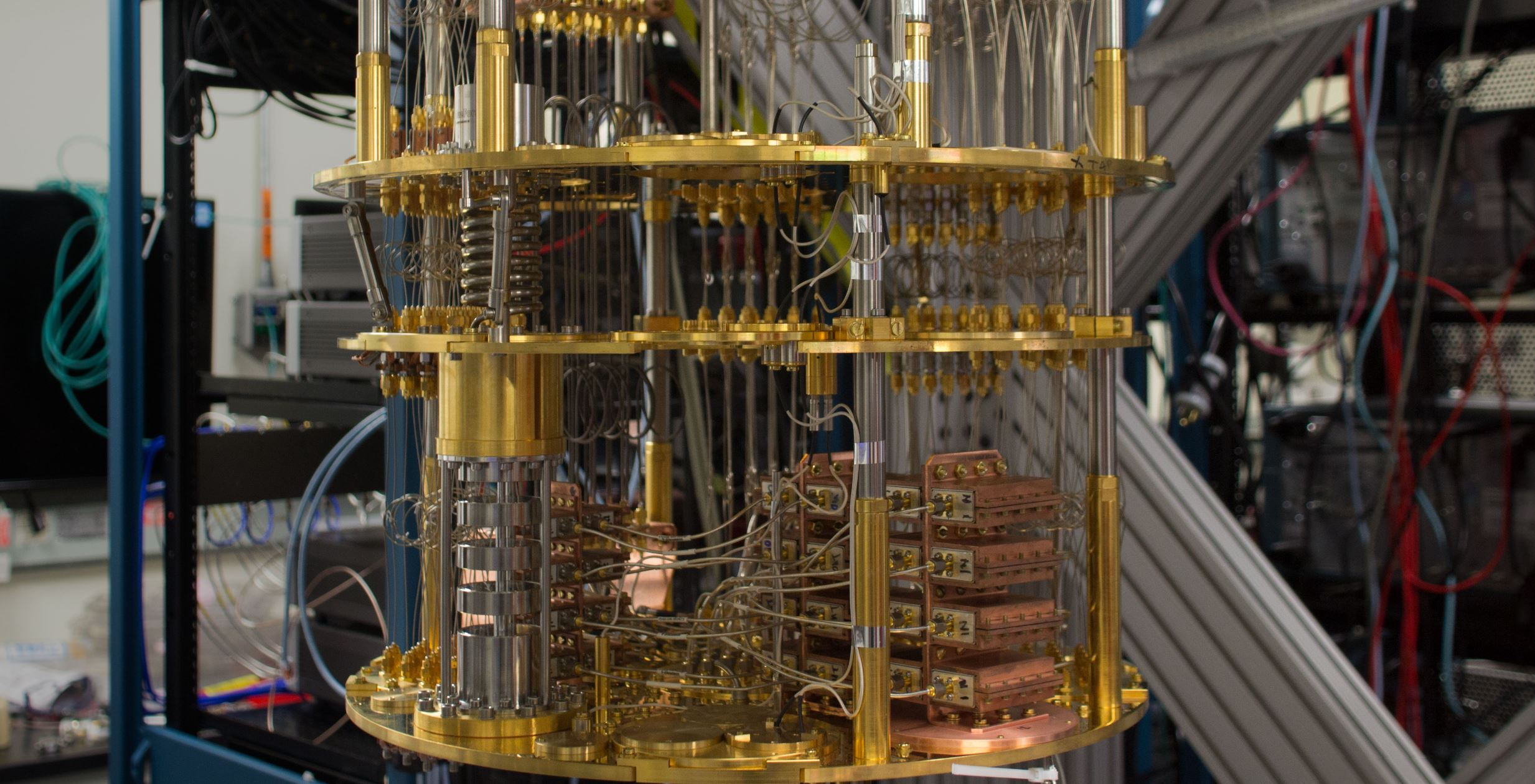 The insides of an IBM quantum computer. - Image Credit:  IBM Research ,  CC BY-ND