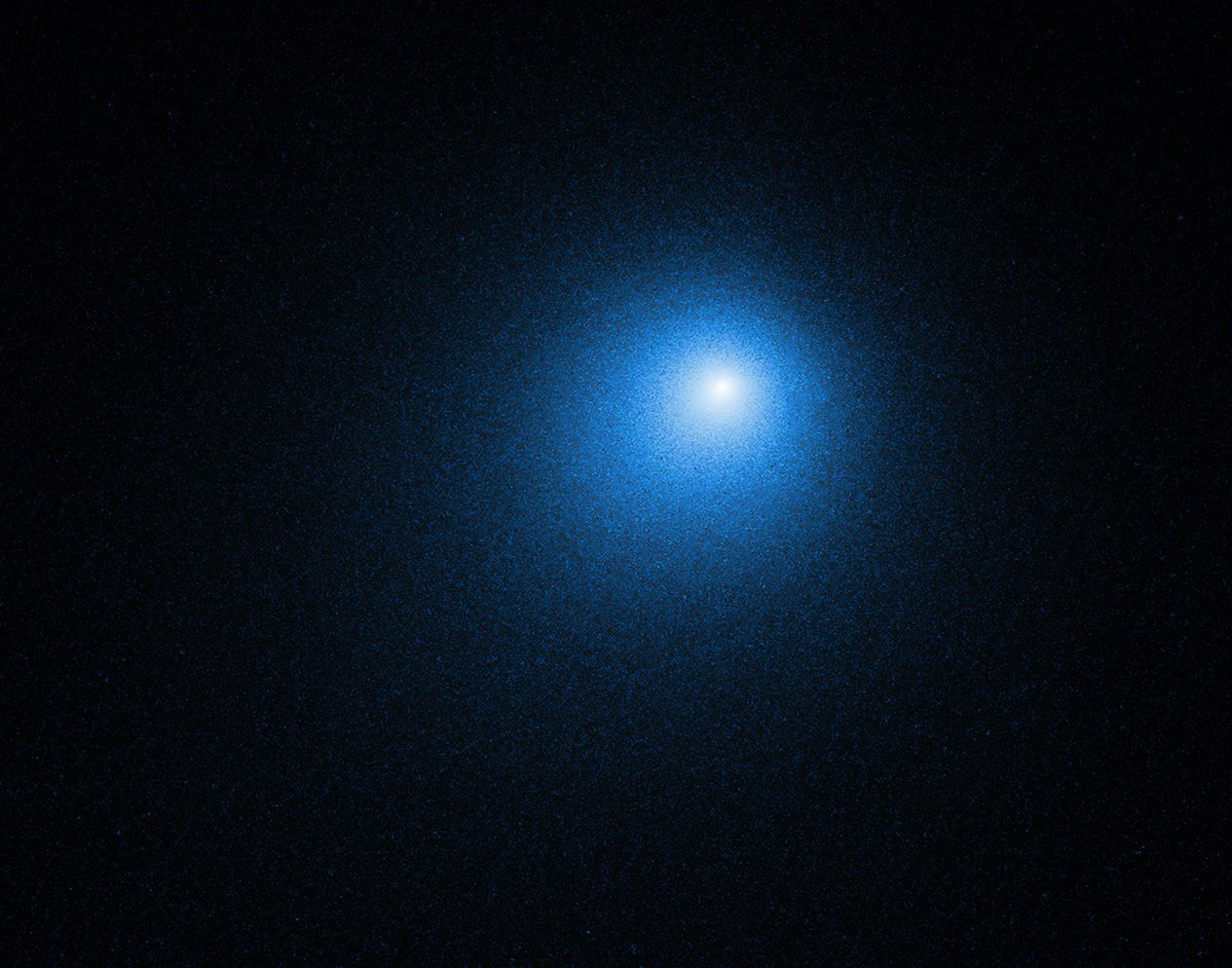 Hubble captured this view of comet 46P/Wirtanen on Dec. 13, 2018. - Image Credit: NASA, ESA, D. Bodewits (Auburn University) and J.-Y. Li (Planetary Science Institute)