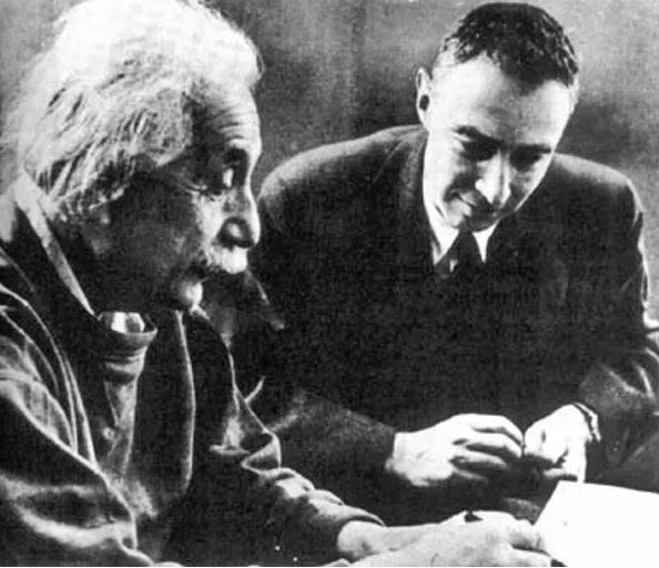Einstein and Oppenheimer, around 1950. - Image courtesy of  US Govt. Defense Threat Reduction Agency via Wikimedia Commons