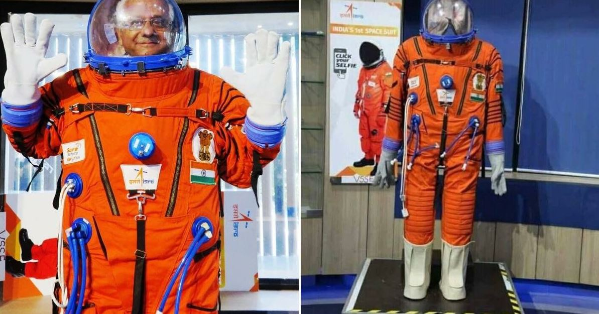 The ISRO recently unveiled the spacesuit that the first crewed mission to space would be wearing. - Image Credit: ISRO