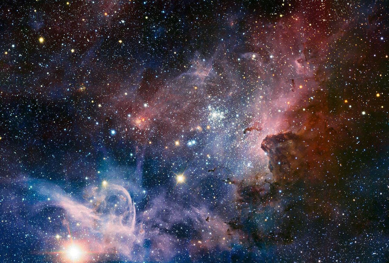 A broad panorama of the Carina Nebula, a region of massive star formation in the southern skies. This new method of determining the age of stars will help astronomers better understand the process of star formation. - Image Credit: ESO/T. Preibisch