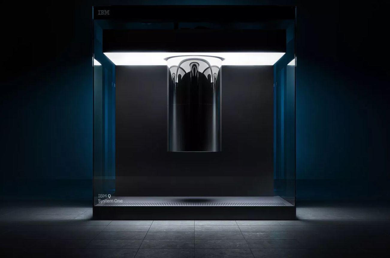 IBM's quantum computer, Q System One. - Image Credit: IBM