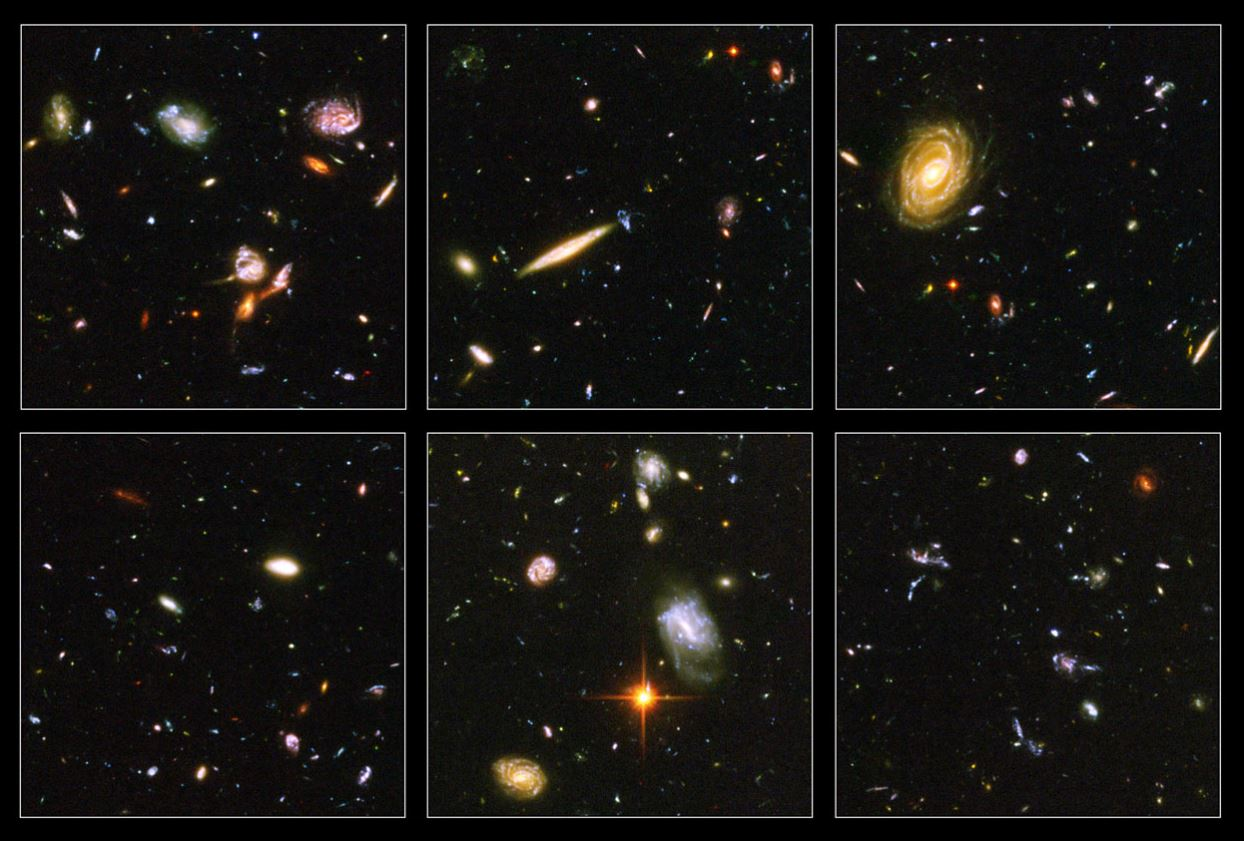 Images from the Hubble Ultra Deep Field (HUDF). - Image Credit: NASA/ESA/S. Beckwith (STScI)/HUDF Team