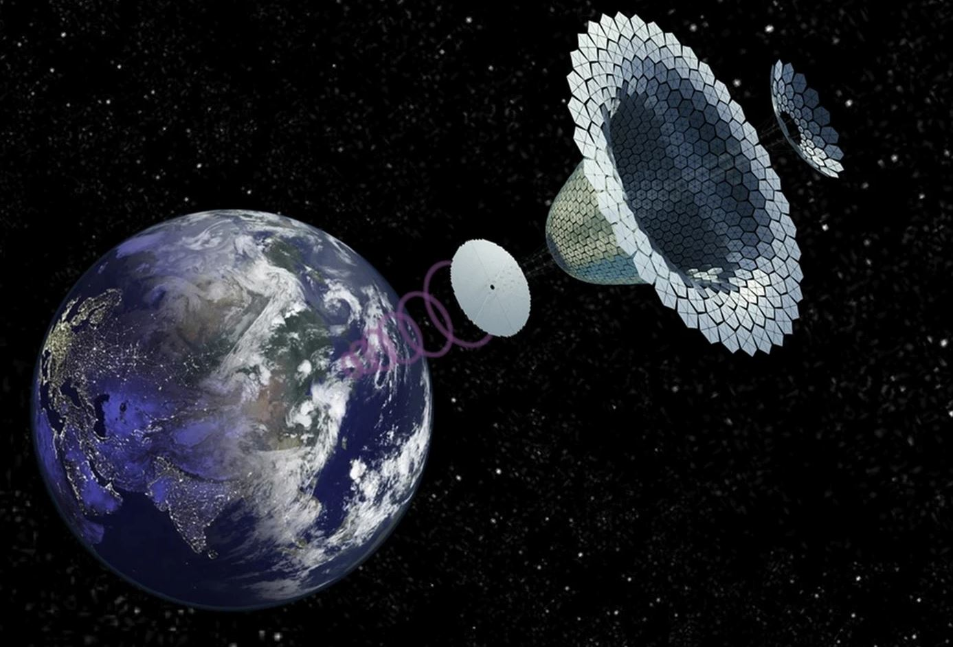 Image Credit:  NASA SPS-ALPHA concept by John C. Mankins