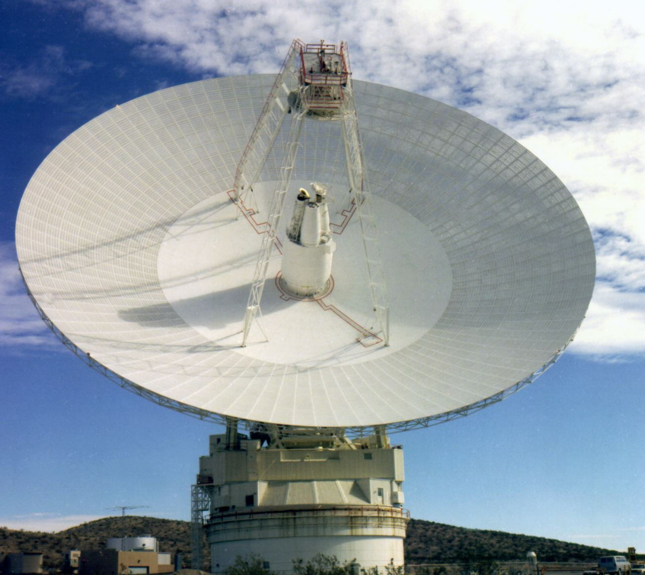 One of the massive radio antennas supporting NASA's Deep Space Network (DSN). - Image Credit: NASA