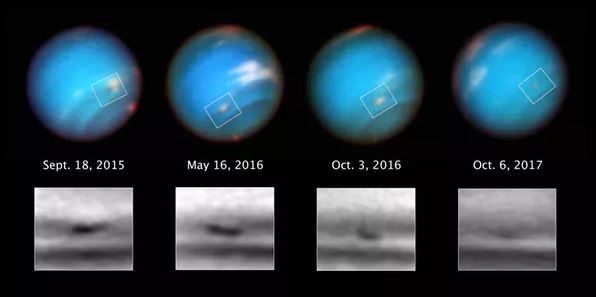 Neptune seen by the Hubble Space Telescope. - Image Credit: NASA/ESA/M.H.Wong/A.I. H