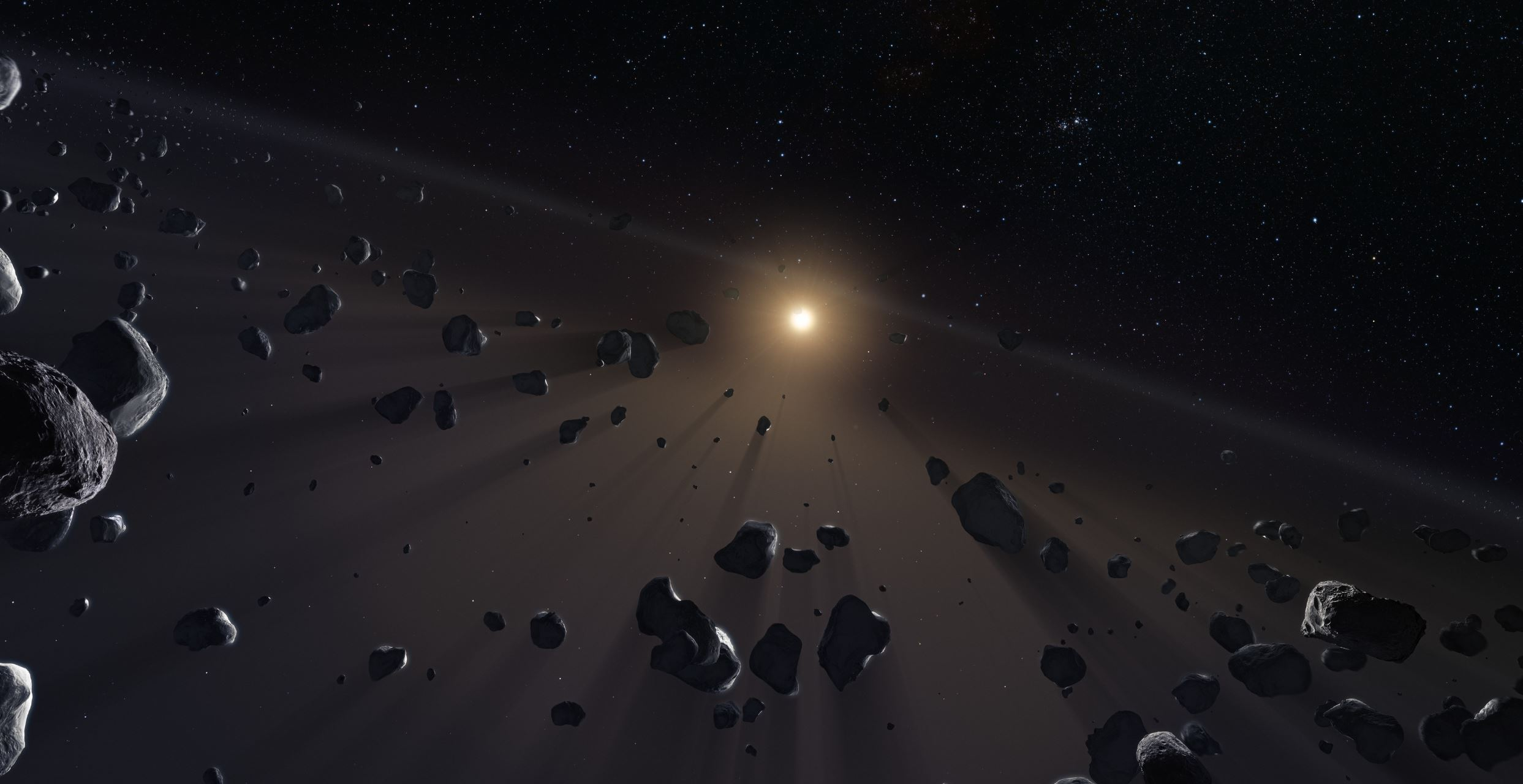 Where are the smallest of the icy worlds we thought resided in the Kuiper belt? - Image Credit:   ESO/M. Kornmesser