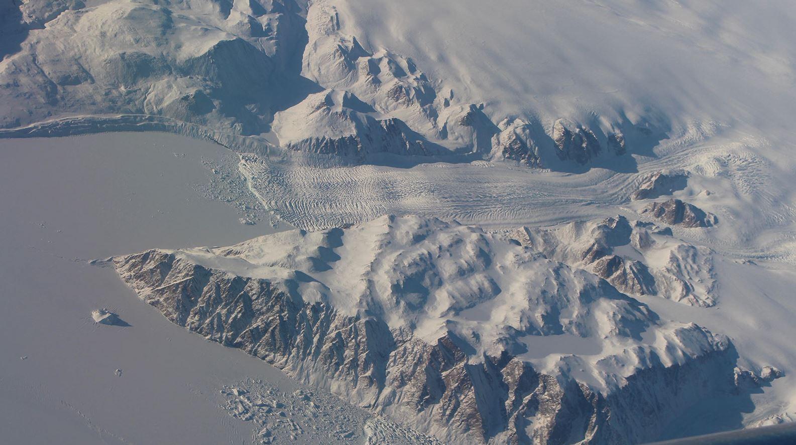 A Greenland glacier. - Image Credit: NASA
