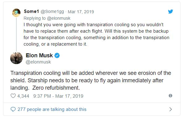 Source:  Elon Musk via Twitter