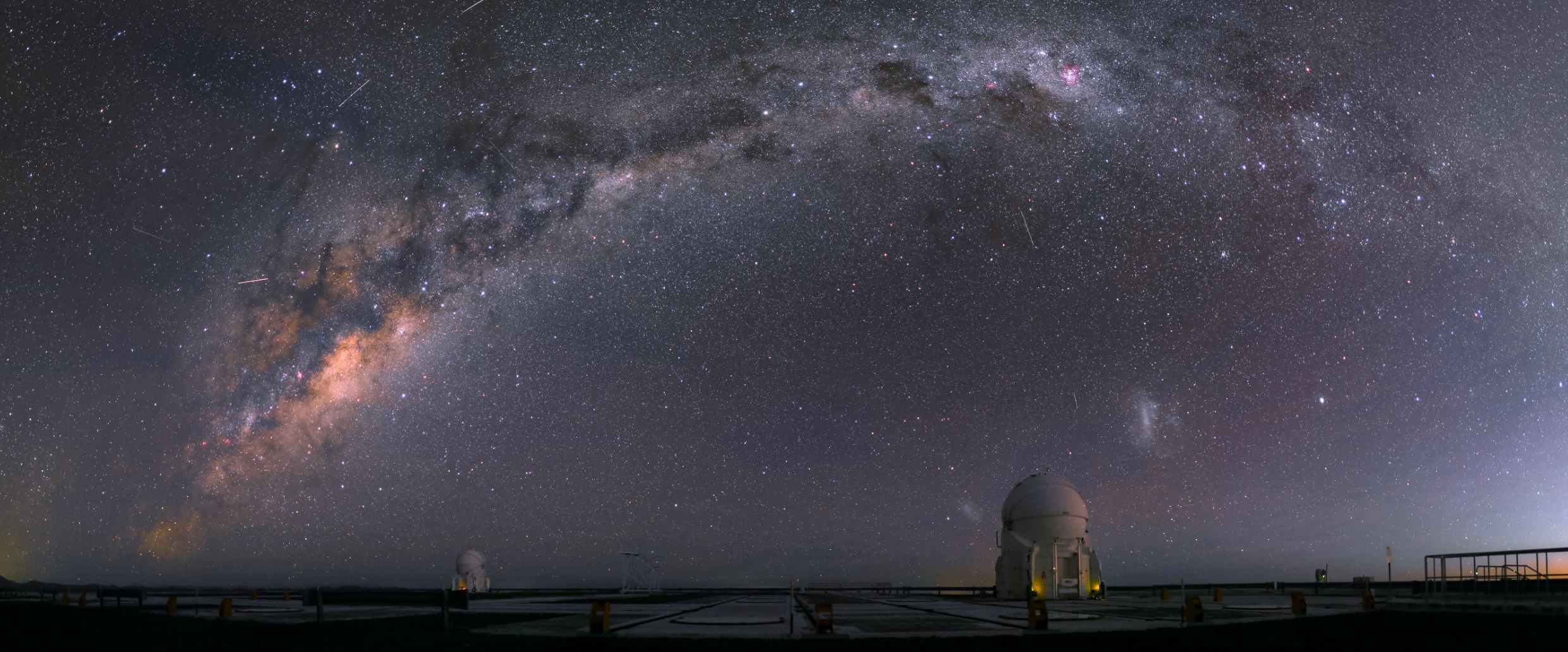 The night sky at the Paranal Observatory, displaying the stunning milky way - Image Credit:  R. Wesson/ESO