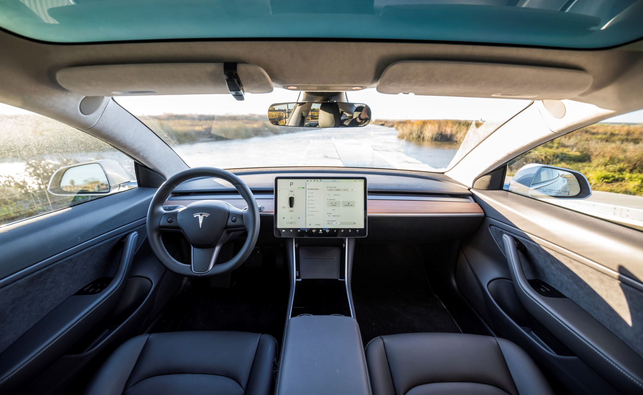 The Tesla model 3, a popular EV with incredible autonomous driving features - Image Credit:  Leo Nguyen via Wikimedia Commons