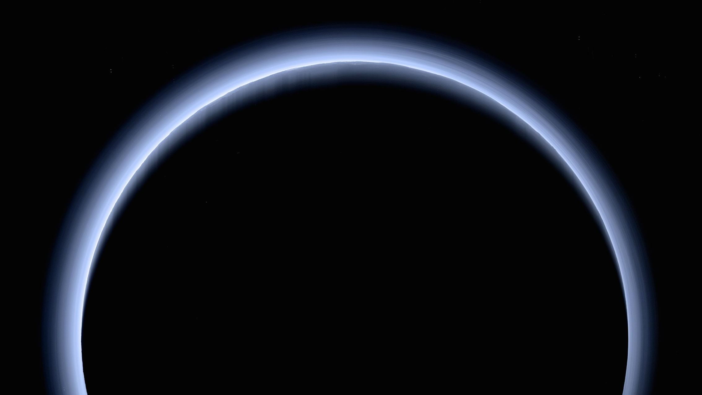 The spectacular layers of blue haze in Pluto's atmosphere, captured by NASA's New Horizons spacecraft.- Image Credit:  NASA/Johns Hopkins University Applied Physics Laboratory/Southwest Research Institute