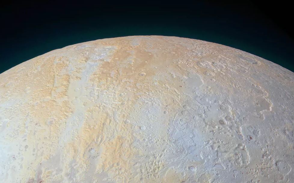 The frozen canyons of Pluto's north pole captured by NASA's New Horizons spacecraft.- Image Credit:  NASA/Johns Hopkins University Applied Physics Laboratory/Southwest Research Institute